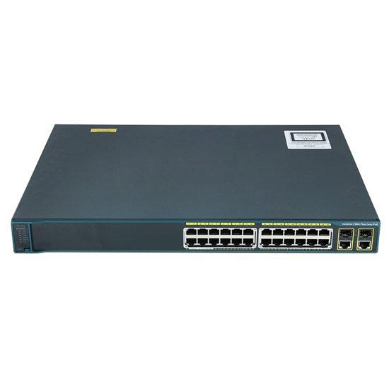 Catalyst 2960 Plus 24 10/100 PoE + 2 T/SFP LAN Base # WS-C2960+24PC-L
