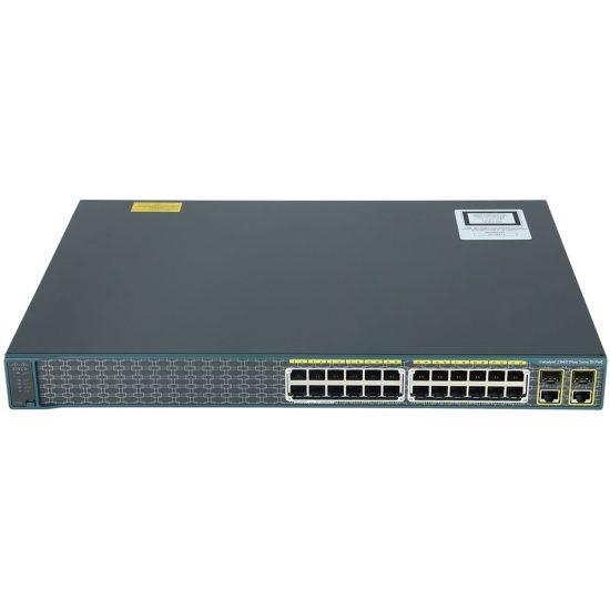 Catalyst 2960 Plus 24 10/100 PoE + 2 T/SFP LAN Lite # WS-C2960+24PC-S