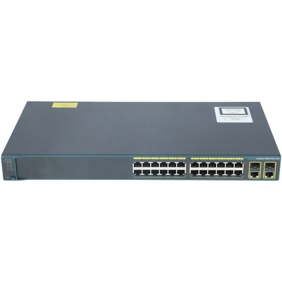 Catalyst 2960 Plus 24 10/100 + 2T/SFP LAN Base # WS-C2960+24TC-L