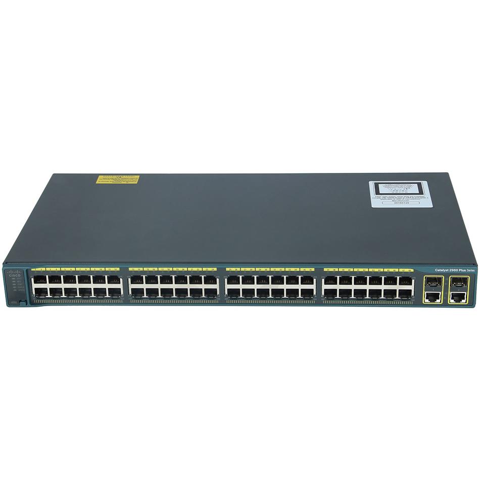 Catalyst 2960 Plus 48 10/100 PoE + 2 1000BT +2 SFP LAN Lite # WS-C2960+48PST-S