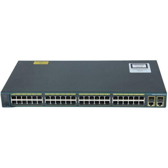 Catalyst 2960 Plus 48 10/100 PoE + 2 1000BT +2 SFP LAN Base # WS-C2960+48PST-L