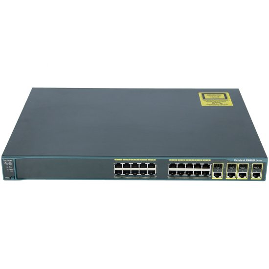Catalyst 2960 24 10/100/1000, 4 T/SFP LAN Base Image # WS-C2960G-24TC-L