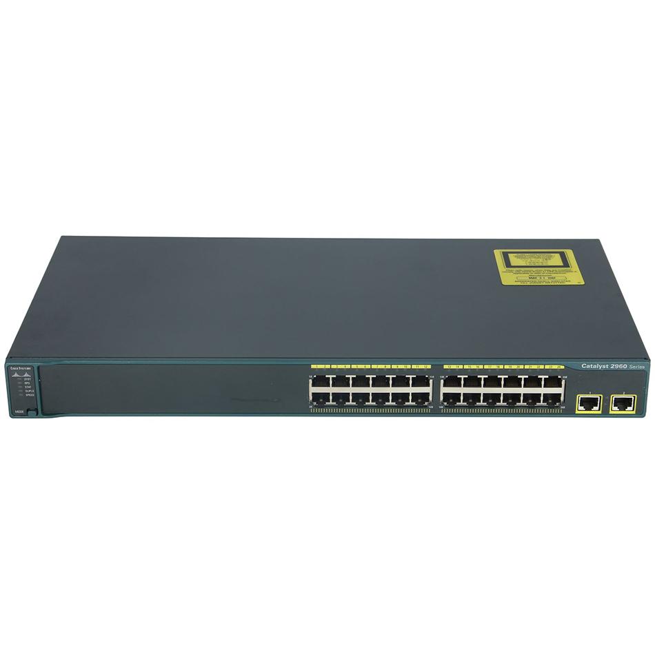 Catalyst 2960 24 10/100 + 2 1000BT LAN Base Image # WS-C2960-24TT-L