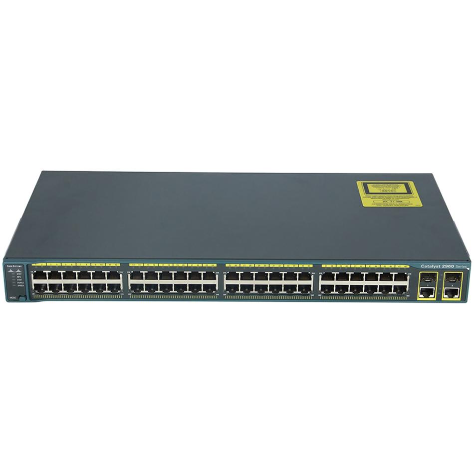 Catalyst 2960 48 10/100 + 2 T/SFP LAN Base Image # WS-C2960-48TC-L