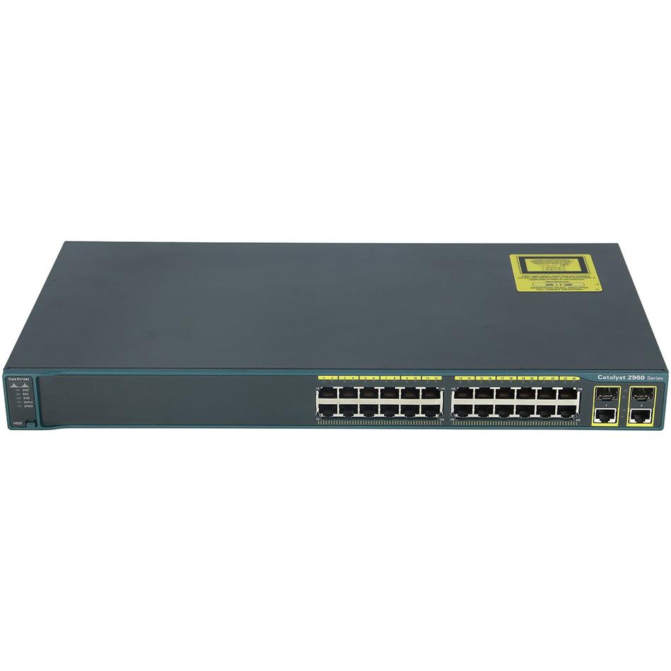 Catalyst 2960 24 10/100 + 2T/SFP LAN Base Image # WS-C2960-24TC-L