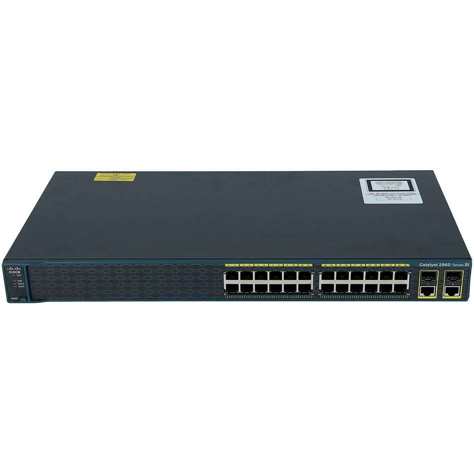 Catalyst 2960 24 10/100 + 2 T/SFP LAN Lite Image # WS-C2960-24TC-S