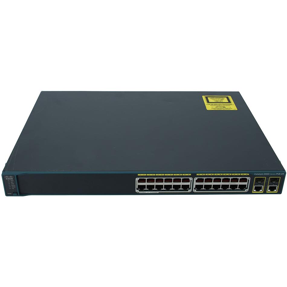 Catalyst 2960 24 10/100 PoE + 2 T/SFP LAN Base Image # WS-C2960-24PC-L