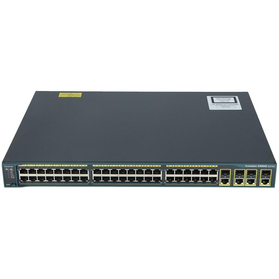 Catalyst 2960 48 10/100/1000, 4 T/SFP LAN Base Image # WS-C2960G-48TC-L