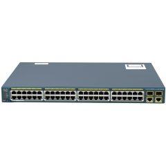Catalyst 2960 48 10/100 PoE + 2 1000BT +2 SFP LAN Lite Image # WS-C2960-48PST-S