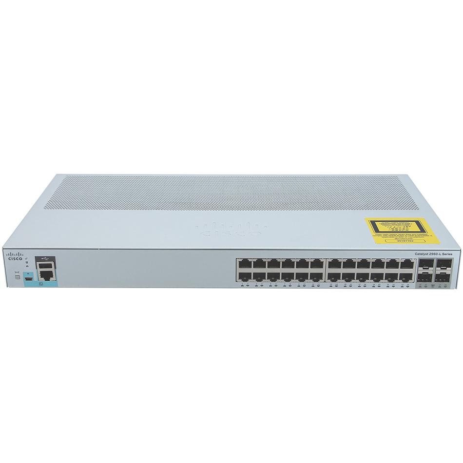 Catalyst 2960L 24 port GigE, 4 x 1G SFP, LAN Lite # WS-C2960L-24TS-LL