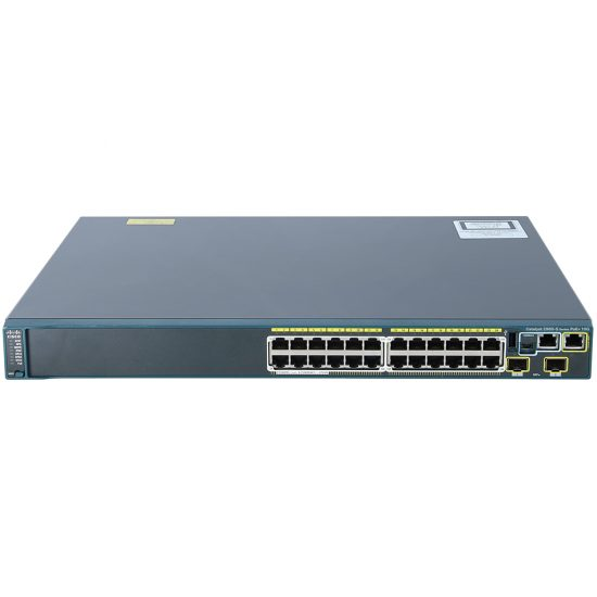 Catalyst 2960S 24 GigE PoE 370W, 2 x 10G SFP+ LAN Base # WS-C2960S-24PD-L
