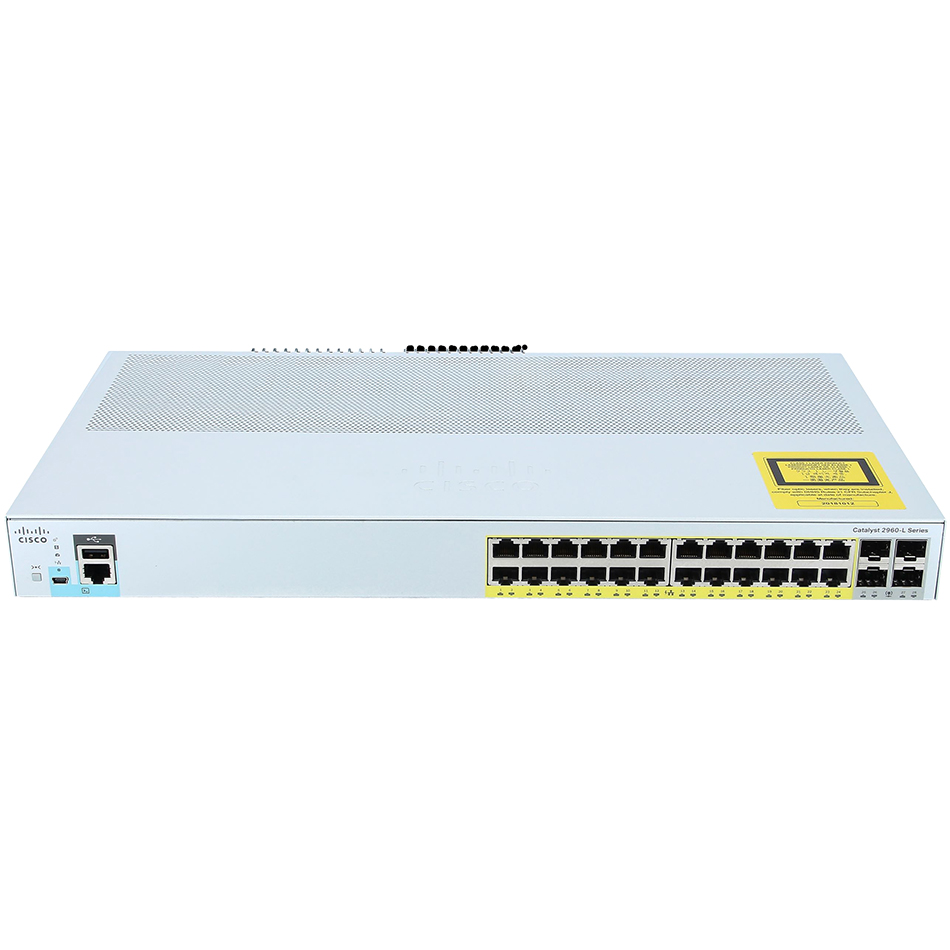 Catalyst 2960L 24 port GigE with PoE, 4 x 1G SFP, LAN Lite # WS-C2960L-24PS-LL