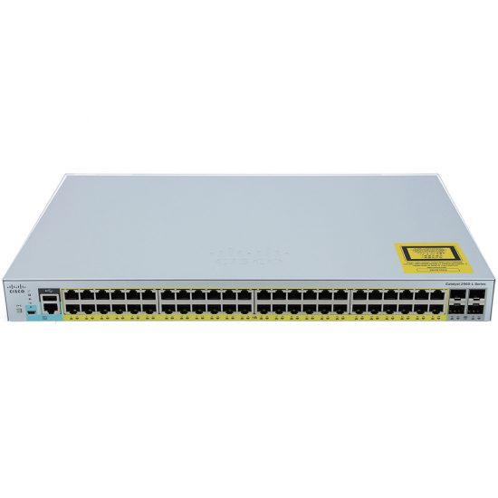 Catalyst 2960L 48 port GigE with PoE, 4 x 1G SFP, LAN Lite # WS-C2960L-48PS-LL