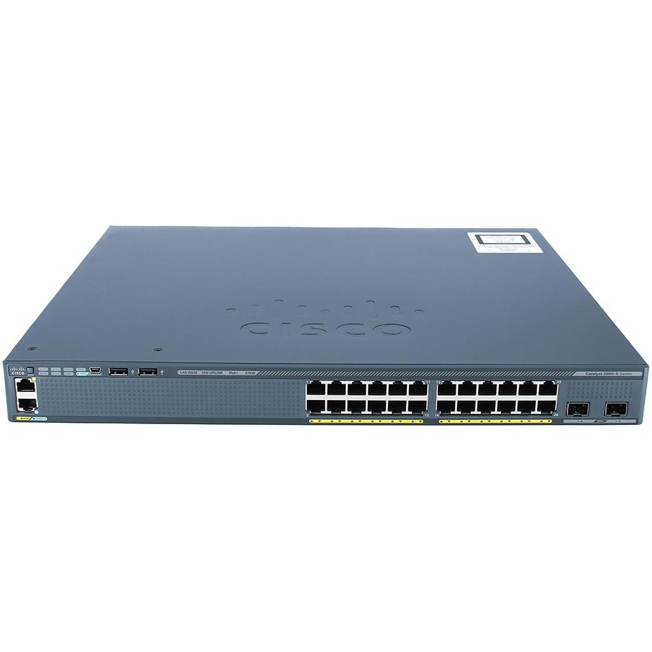 Catalyst 2960-X 24 GigE, 2 x 10G SFP+, LAN Base # WS-C2960X-24TD-L