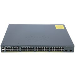 Catalyst 2960-X 48 GigE PoE 740W, 4 x 1G SFP, LAN Base # WS-C2960X-48FPS-L