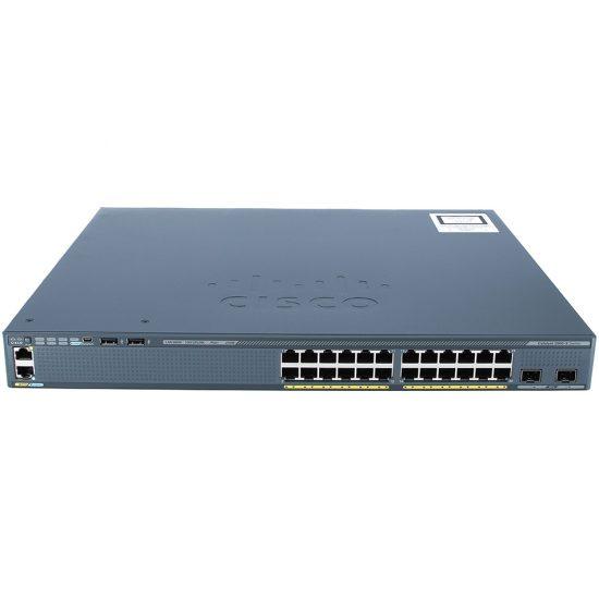 Catalyst 2960-X 24 GigE PoE 370W, 2 x 10G SFP+, LAN Base # WS-C2960X-24PD-L