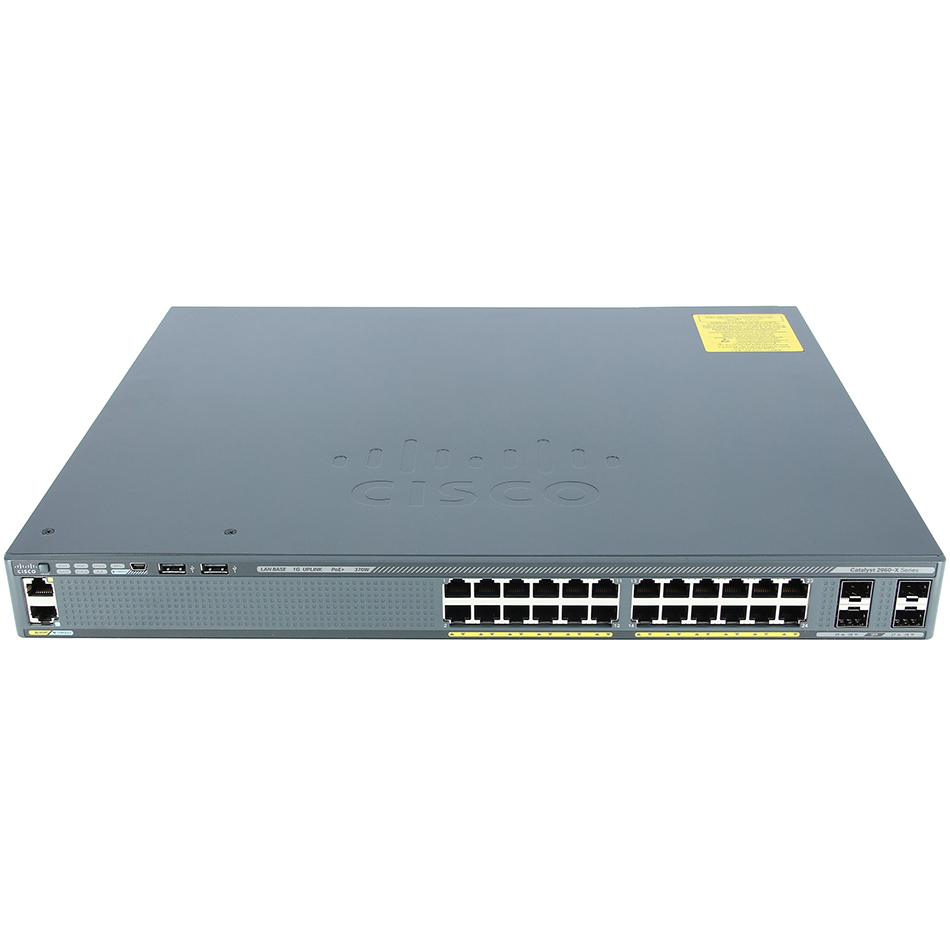 Catalyst 2960-X 24 GigE PoE 370W, 4 x 1G SFP, LAN Base # WS-C2960X-24PS-L