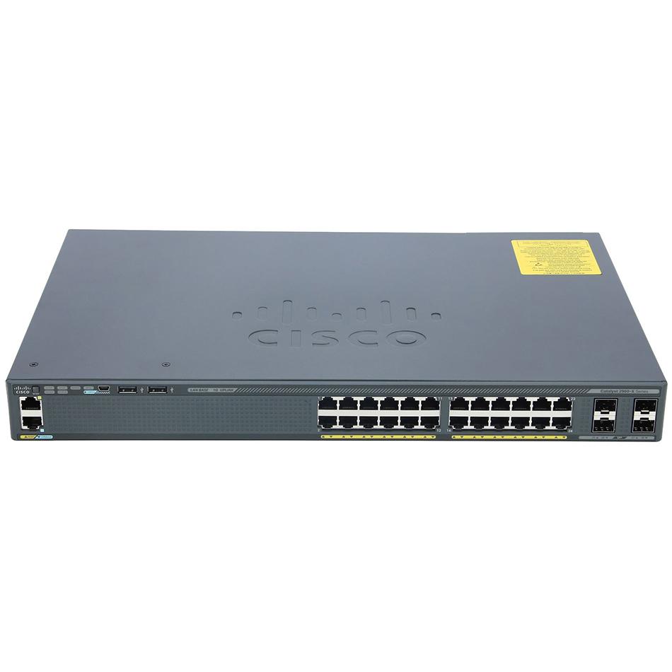 Catalyst 2960-X 24 GigE, 4 x 1G SFP, LAN Base # WS-C2960X-24TS-L