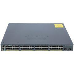 Catalyst 2960-X 48 GigE PoE 370W, 2 x 10G SFP+ LAN Base # WS-C2960X-48LPD-L
