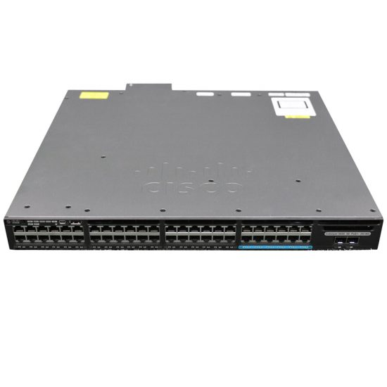 Cisco Catalyst 3650 48 Port mGig, 2x10G Uplink, LAN Base # WS-C3650-12X48FD-L