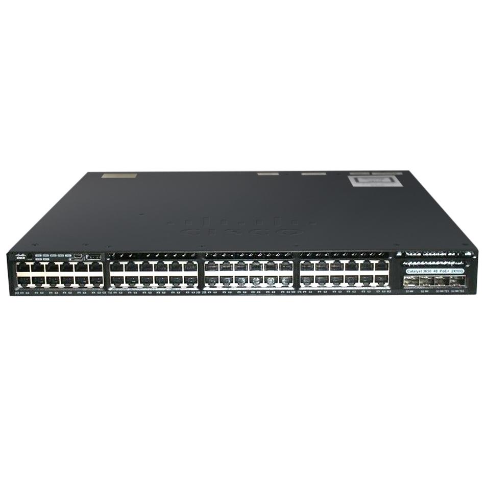Cisco Catalyst 3650 48 Port Full PoE 2x10G Uplink IP Services # WS-C3650-48FD-E
