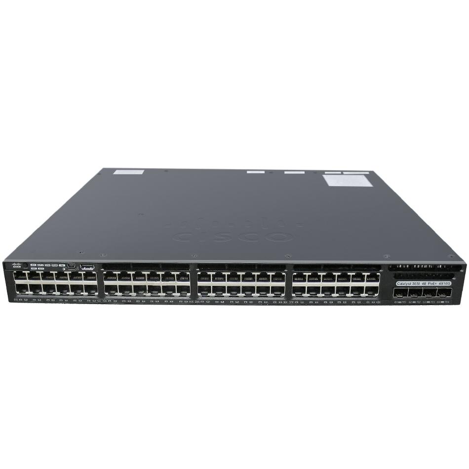 Cisco Catalyst 3650 48 Port Full PoE 4x10G Uplink IP Services # WS-C3650-48FQ-E