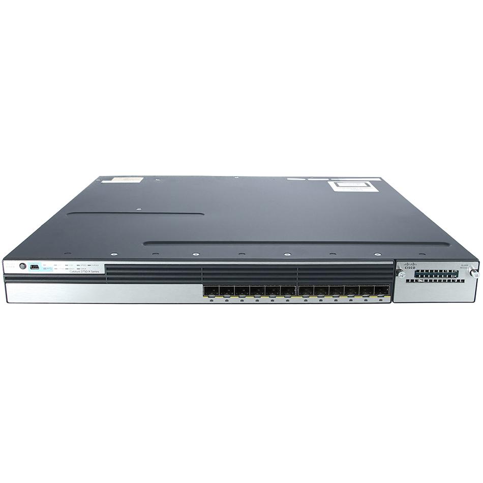 Catalyst 3750X 12 Port GE SFP IP Base# WS-C3750X-12S-S