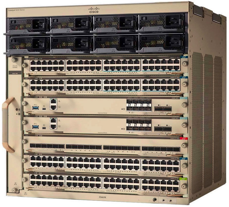 Cisco Catalyst 9400 Series 7 slot chassis # C9407R