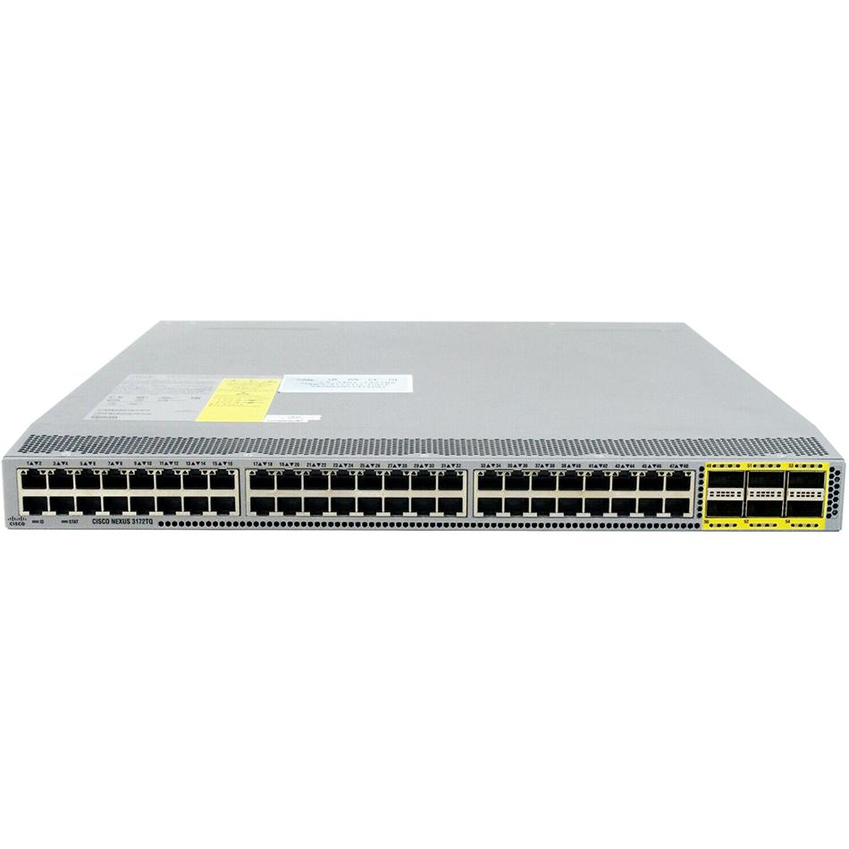 Cisco ONE Nexus 3172T 48 x 1/10GBase-T and 6 QSFP+ ports # C1-N3K-C3172TQ