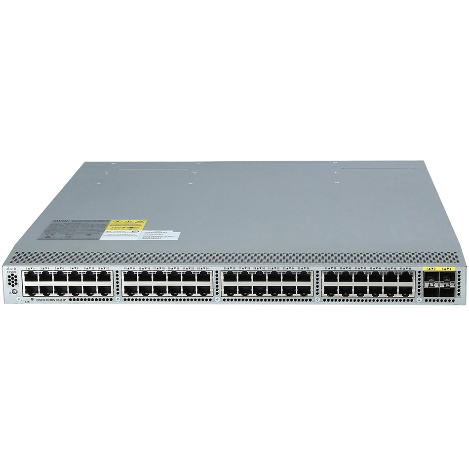 Nexus 3048, Std Airflow (port side exhaust),DC P/S, LAN Ent # N3K-C3048-FD-L3