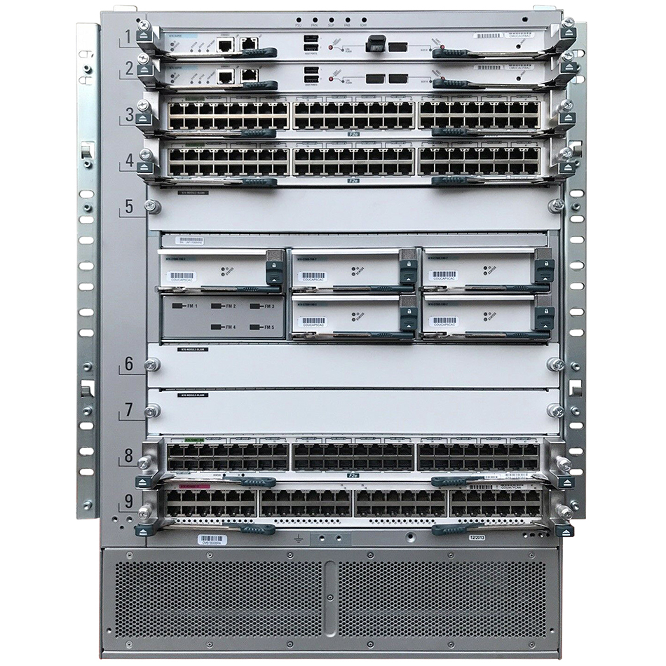 Nexus 7009 Bundle (Chassis,(2)SUP1,(5)FAB2,(2)AC-6KW PSU) # N7K-C7009-BUN2-R