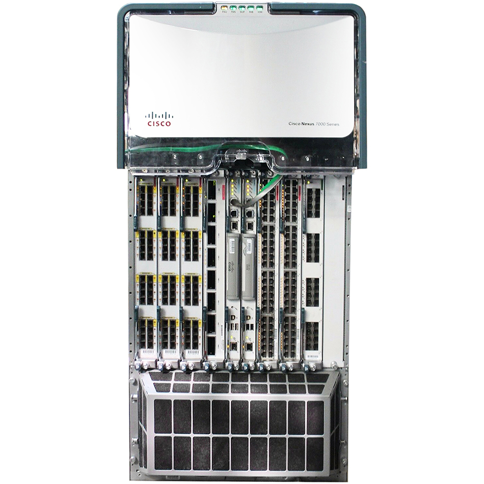 Nexus 7010 Bundle (Chassis,SUP1,(3)FAB1,(2)AC-6KW PSU) # N7K-C7010-BUN