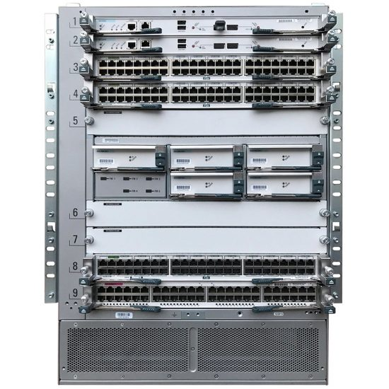 Nexus 7009 Bundle (Chassis,SUP1,(5)FAB2,(2)AC-6KW PSU # N7K-C7009-BUN2