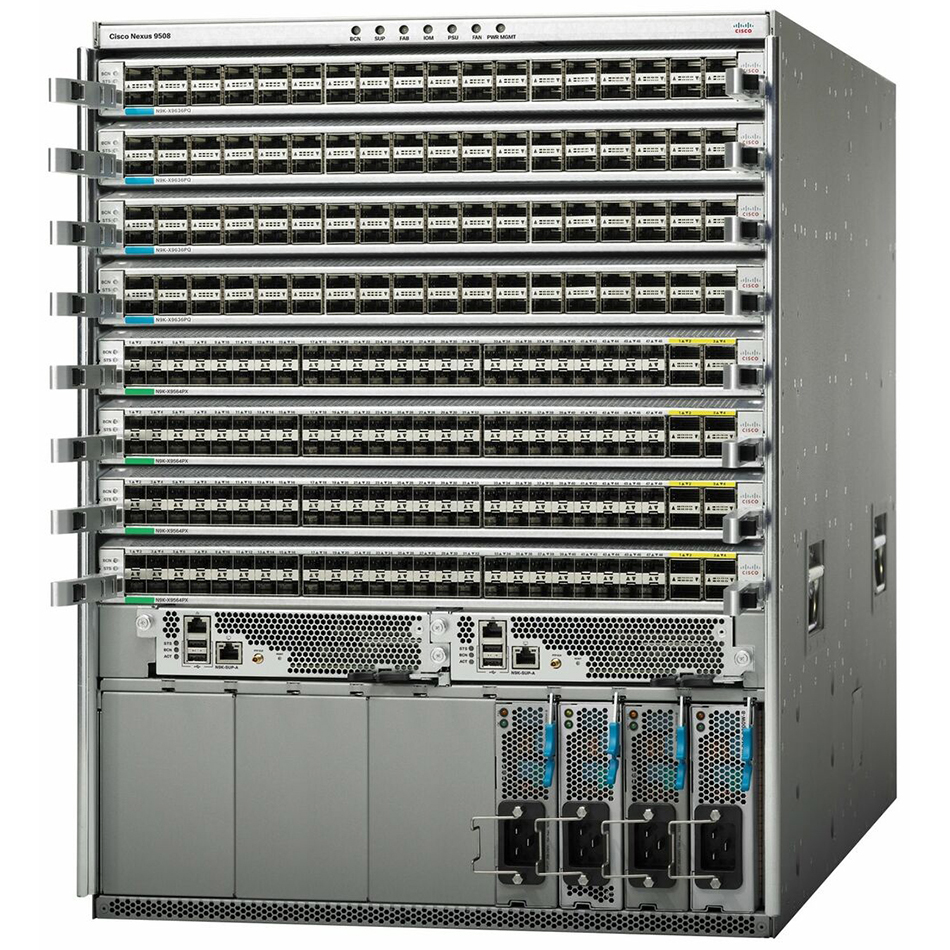 Cisco ONE Nexus 9508 Chassis Bun 1Sup, 3PS, 2SC, 4FM-S, 3Fan # C1-N9K-C9508-B3-S