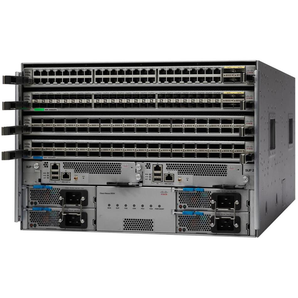 Cisco ONE Nexus 9504 Chassis Bun 1Sup, 3PS, 2SC, 4FM-S, 3Fan # C1-N9K-C9504-B3-S