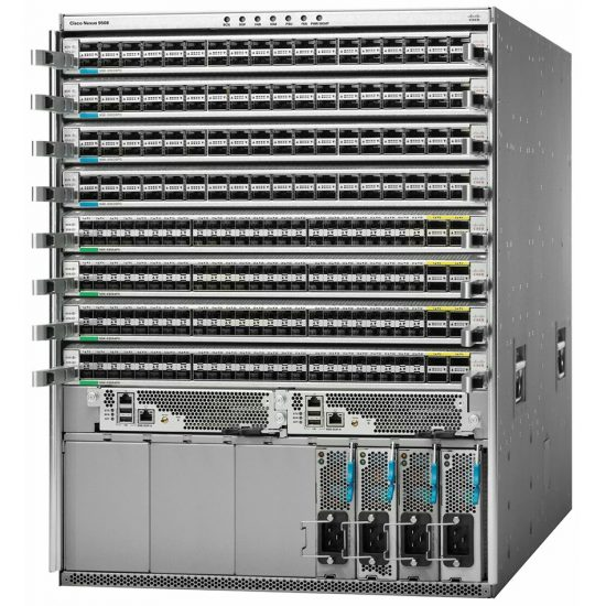 8 slot, 2 Sup, 3 FM, 2 SC, 6 PS, 4x9564TX, 8 BIDI # N9K-C9508-B2R8Q