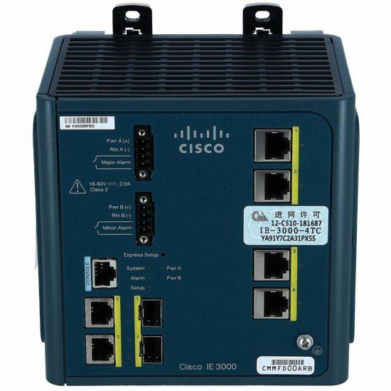 Cisco IE 3000 Switch, 4 10/100 + 2 T/SFP # IE-3000-4TC