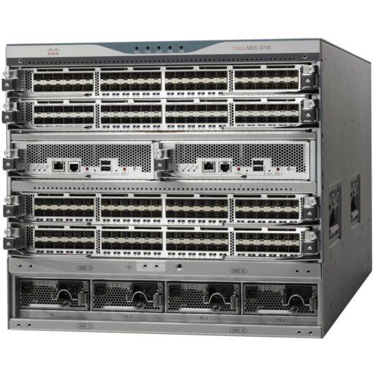 MDS 9706 V2 Base Config: Chassis, 2 Sup-4, 3 Fab-3, 2 3KAC # DS-C9706-V2K9