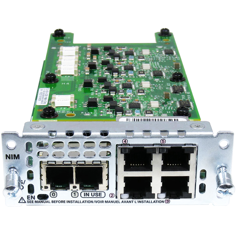 2-Port FXS/FXS-E/DID and 4-Port FXO Network Interface Module # NIM-2FXS/4FXO