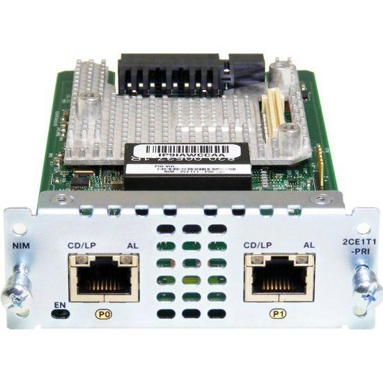 2 port Multiflex Trunk Voice/Channelized Data T1/E1 Module # NIM-2CE1T1-PRI