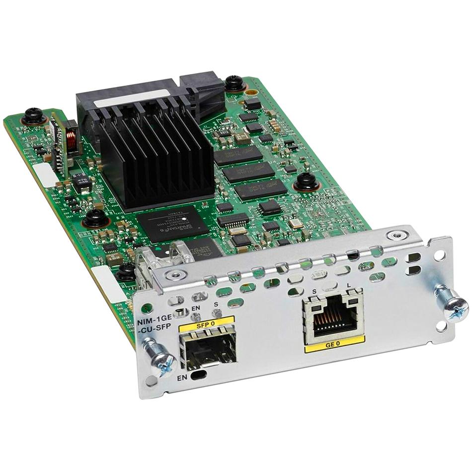 1-port GE WAN NIM, dual-mode RJ45 & SFP # NIM-1GE-CU-SFP