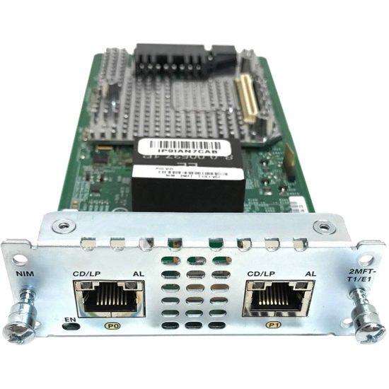 2 port Multiflex Trunk Voice/Clear-channel Data T1/E1 Module # NIM-2MFT-T1/E1