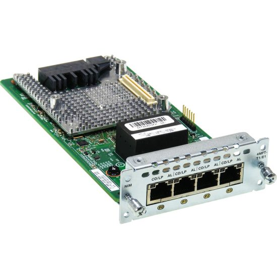 4 port Multiflex Trunk Voice/Clear-channel Data T1/E1 Module # NIM-4MFT-T1/E1