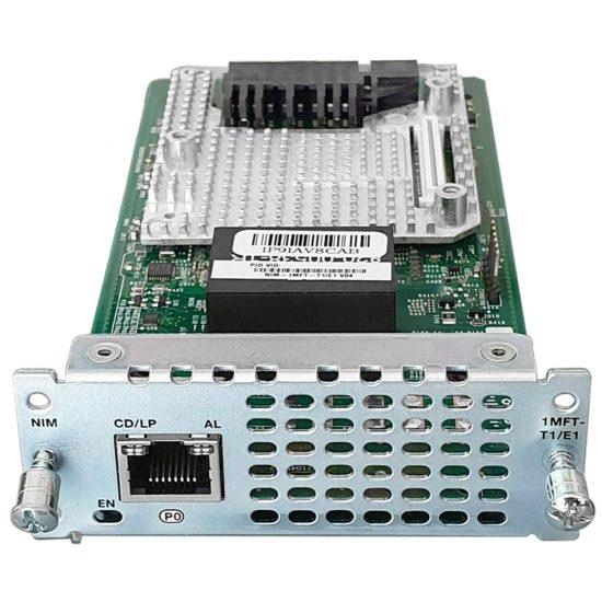 1 port Multiflex Trunk Voice/Clear-channel Data T1/E1 Module # NIM-1MFT-T1/E1