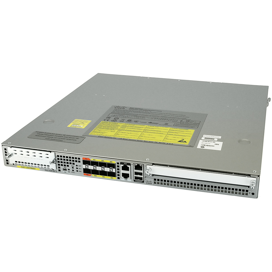Cisco ASR1001-X Chassis, 6 built-in GE, Dual P/S, 8GB DRAM # ASR1001-X