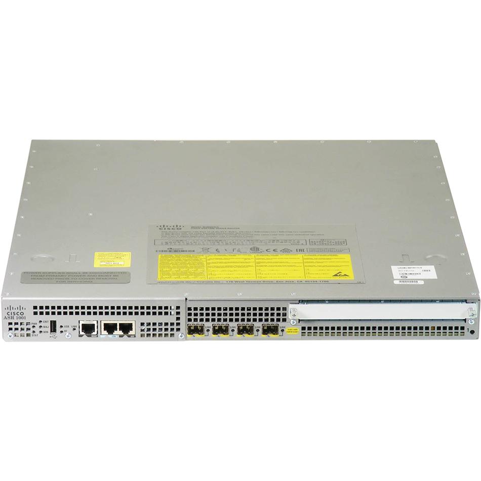 Cisco ASR1001 System,Crypto, 4 built-in GE, T3 IDC, Dual P/S # ASR1001-4XT3