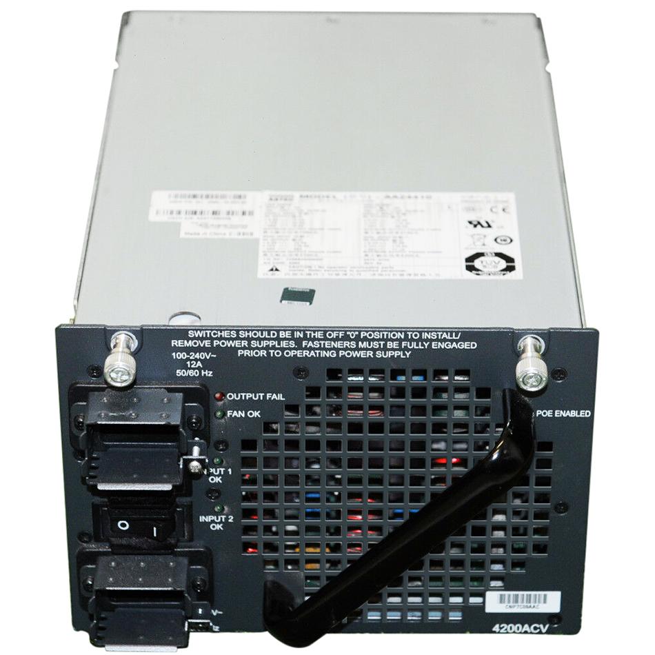Catalyst 4500 4200W AC dual input Power Supply (Data + PoE) # PWR-C45-4200ACV