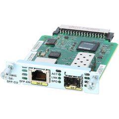 EHWIC 1 port dual mode SFP(100M/1G) or GE(10M/100M/1G) # EHWIC-1GE-SFP-CU